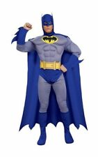 Adult Deluxe Licensed Bold & Brave Batman Mens Fancy Dress Costume Party Outfit