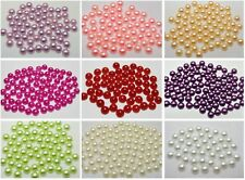 500 Half Pearl Bead 8mm FlatBack Cabachons Scrapbook Craft Color For Choice