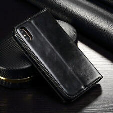 For iphone X Card Holder Stand Phone PU Cover Flip Wallet Leather Magnetic Case