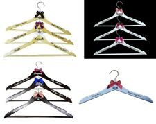 1, 3 or 6 Personalised Wedding Coat Hangers Bride Bridesmaids Prom 3 Colours
