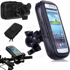 Mobile Bicycle Bike Handle Bar Holder Water Proof Rain Case Cover Fits Apple
