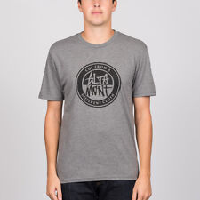 Altamont 'Contrast Stacked' Tee. Grey/Heather.