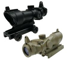Element Airsoft Aim-O ACOG Style Rifle Sight 4x32 Red Dot Scope AO5318