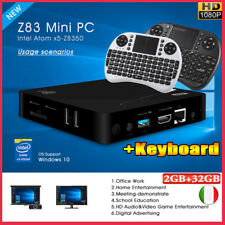 Z83 Windows 10 MINI PC 32GB+2GB Smart TV Box Intel 4K HD Dual WiFi BT + Keyboard