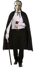 Adults Michael Myers Latex Mask With Black Cape Halloween Horror Fancy Dress lot