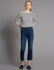 BNWT MARKS & SPENCER M&S AUTOGRAPH DEMI BOOT MID RISE CROPPED JEANS UK 10 12 REG