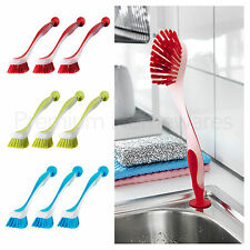 3 x IKEA PLASTIS Washing-Up Dish Brushes With Suction Cup (Red/Green/Blue)