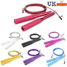 Skipping Rope Fitness Adjustable Speed  Jumping Boxing Gym Cross Fit Steel Cable