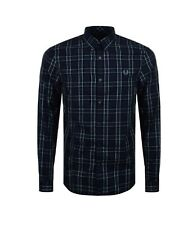 Camicia Fred Perry uomo enlarged tartan m2566 608 navy cotone fw 17/18