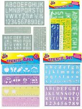 Stencil Set Letters Alphabet Craft Numbering Signs Lettering Perfect Text