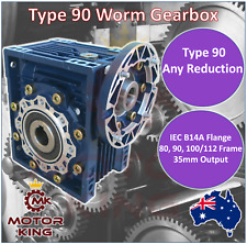 Worm Gearbox Type 90 B14 B14A Any Reduction 19mm 24mm 28mm Input Shaft