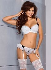 "AXAMI SET ""Americano Beauty"" Reggiseno Push up+ Perizoma+ Reggicalze V-5971 65"