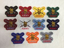 The British Army - Embroidered Patches / Badges - Sew On Breast / Biker Patch