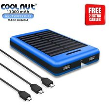COOLNUT Solar Power Bank 13000mAh  for Mobile and Android + 1 Year Warranty