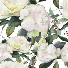 Reproduction sur toile White Peony in watercolor
