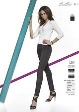 LEXI Leggings Stretch Neri 200 DENARI Cuciture in Rilievo Certificato OEKO TEX