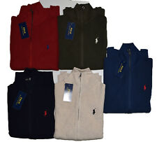 Full Zip Polo Ralph Lauren Rib Knit Jersey Jumpers Sweaters