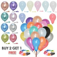 "10"" INCH 50x Pearl Balloons Latex Helium Air Party Weddings Balloons Celebration"