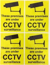 Yellow CCTV Sign Shop Business Letterbox Office/Door/Retail Self Adhesive Notice