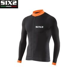 Maglia Maglietta Bike Jersey maniche lunghe Bici SIXS BLACK ORANGE BIKE4 STRIPES