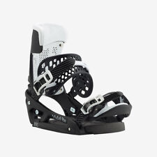 Burton Men's Malavita EST Snowboard Bindings Black / White Wing