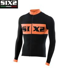 Maglia Maglietta maniche lunghe Bike Jersey Bici SIXS BLACK ORANGE BIKE4 LUXURY