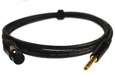 Professional 3-pin XLR Female to TRS ¼ stereo Jack Van Damme balanced cable