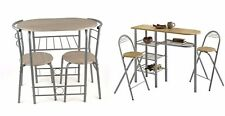 3pc Dining Table And 2 Chairs Set Kitchen Furniture Bistro Breakfast Bar Compact