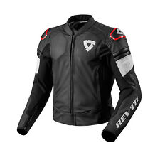 REV'IT! Akira da moto in pelle giacca moto nera Rosso REV. IT REVIT