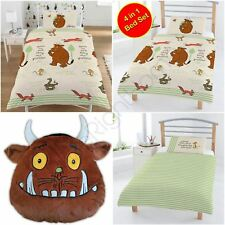 THE GRUFFALO WOODLAND DUVET COVER SET JUNIOR / 4 IN 1 SET, SINGLE & CUSHION