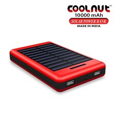 COOLNUT Solar Power Bank 10000mAh for All Smartphones + 1 Year Warranty
