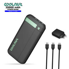 COOLNUT Power Bank 20000mAh for Mobile with 3- USB Port Complete Kit (BLACK)