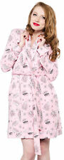 Sourpuss BETTIE PAGE Motel Cozy Vamps Pin Up Robe BADEMANTEL Rockabilly