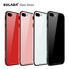 Metal frame Glass material Shockproof Bumper Case Cover for iPhone 7 8 8 Plus X