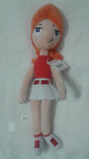 RARE Walt Disney Store excl Phineas Ferb CANDACE Beanbag PLUSH DOLL NEW NWT