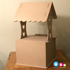 Wedding Post Box, Wishing Well, Flat Pack, Unpainted MDF for Cards etc