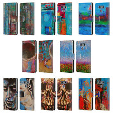 OFFICIAL ROCK DEMARCO PAINTED ART LEATHER BOOK WALLET CASE COVER FOR LG PHONES 1