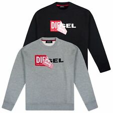 DIESEL SWEAT SHIRT - DIESEL S-SAMY OVERSIZED SWEAT SHIRT - BLACK/GREY - BNWT