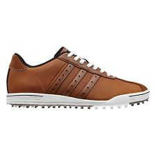 NEW MEN'S ADIDAS ADICROSS CLASSIC GOLF SHOES TAN/WHITE Q44604 - PICK YOUR SIZE