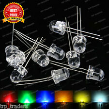 10mm Ultra Bright Water Clear LED Bulb 3V-3.4V All Colours Light Emitting Diode