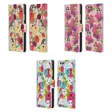 HEAD CASE DESIGNS FLORAL & ANIMAL PATTERN LEATHER BOOK CASE FOR HUAWEI PHONES