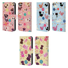 HEAD CASE DESIGNS SPACE UNICORNS LEATHER BOOK CASE FOR APPLE iPOD TOUCH MP3