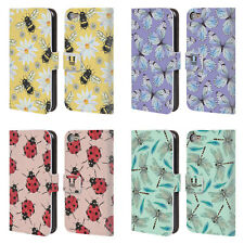 HEAD CASE DESIGNS WATERCOLOUR INSECTS LEATHER BOOK CASE FOR APPLE iPOD TOUCH MP3