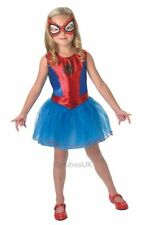 SALE Kids Marvel Spiderman Superhero Spidergirl Girls Fancy Dress Costume Outfit