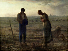 Impression sur bois The Angelus - Jean-François Millet