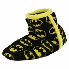 'Junior Boys Character' Rounded Toe Bootie Novelty Slippers - Batman
