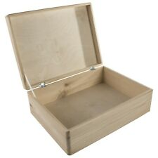 Large Wooden Storage Box With Lid / Pinewood Toy Chest Memory Keepsake Trunk