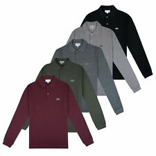 LACOSTE POLO - LACOSTE PH4013 SLIM FIT LONG SLEEVE POLO - BURGUNDY, GREEN, BLACK
