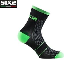 Calzini Calze corte running SOCKS SIXS GREEN FLUO 100% made in Italy RUN S