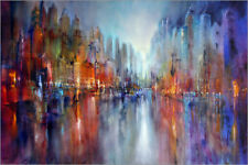 Impression sur bois City by the river - Annette Schmucker